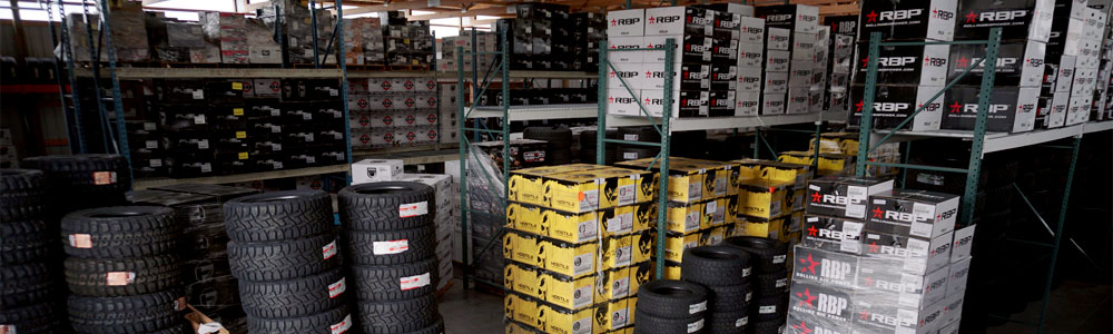 Thousands of wheels and tires in-stock