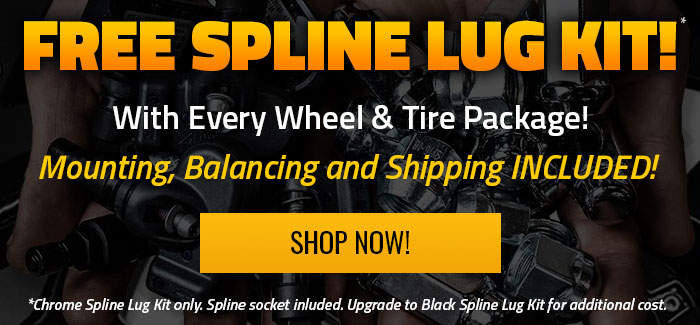 Free Spline Chrome Lug Kit with Packages
