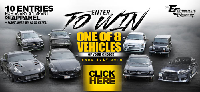 Extreme Customs Enthusiasts Giveaway