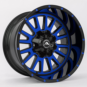 American Offroad A105 Gloss Black W/ Blue Face
