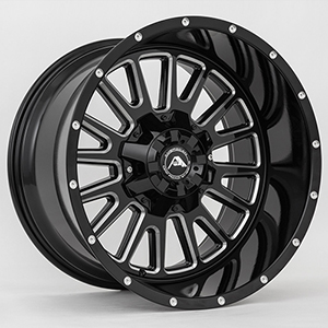 American Offroad A105 Gloss Black W/ Milled Spokes