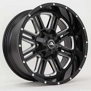 American Offroad A106 Gloss Black W/ Milled Spokes