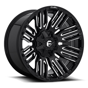 Fuel Schism D649 Gloss Black W/ Milled Spokes