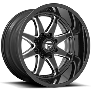 Fuel Hammer D749 Gloss Black W/ Milled Spokes
