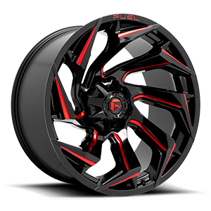 Fuel D755 Reaction Gloss Black Red Milled
