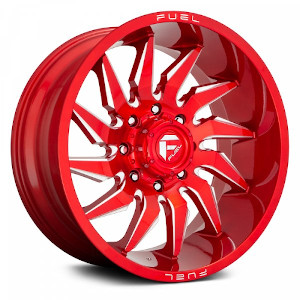 Fuel Saber D745 Candy Red W/ Milled Spokes