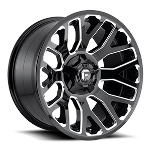 Fuel Warrior D623 Gloss Black W/ Milled Spokes
