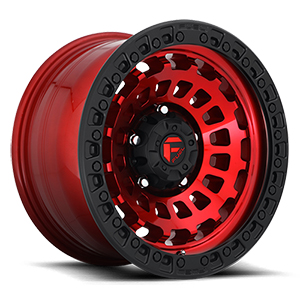 Fuel Zephyr D632 Candy Red W/ Matte Black Ring