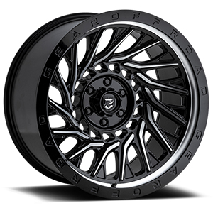 Gear Offroad Monsoon 757 Gloss Black W/ Machined Accents