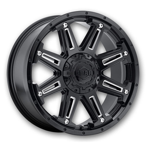 Gear Offroad Mechanic 741 Satin Black W/ Milled Spokes