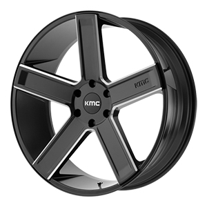 KMC KM702 Deuce Satin Black W/ Milled Spokes