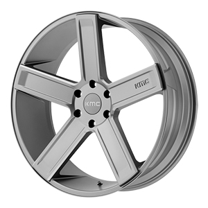 KMC KM702 Deuce Satin Gray W/ Milled Spokes