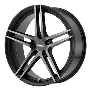 KMC KM703 Monophonic Satin Black Machined Tint