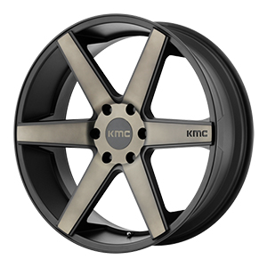 KMC KM704 District Truck Satin Black Machined DDT