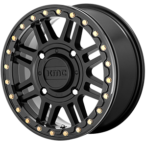 KMC KS250 Cage Satin Black Beadlock
