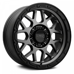 KMC KM535 Grenade Off-Road Matte Gray Black Lip