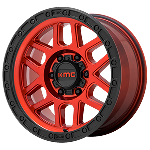 KMC KM544 Mesa Candy Red W/ Black Lip