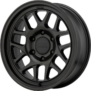 KMC KM717 Bully OL Satin Black