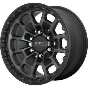 KMC KM718 Summit Satin Black W Gray Tint