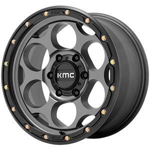 KMC KM541 Dirty Harry Satin Gray W/ Black Lip