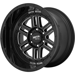 Moto Metal MO800 Deep Six Gloss Black W/ Milled Spokes
