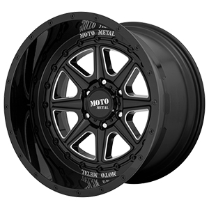 Moto Metal MO801 Phantom Gloss Black W/ Milled Spokes