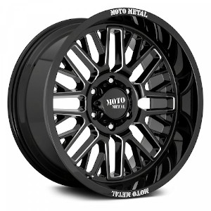 Moto Metal MO802 Gloss Black W/ Milled Spokes