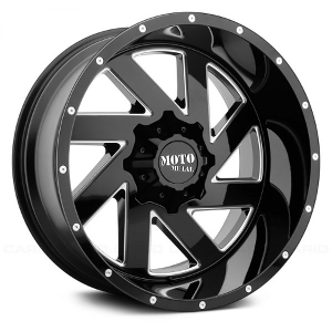 Moto Metal MO988 Meele Black W/ Milled Spokes