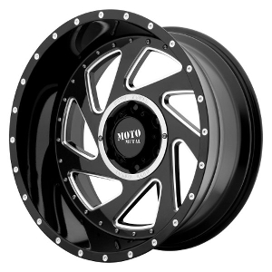 Moto Metal MO989 Change Up Black W/ Milled Spokes