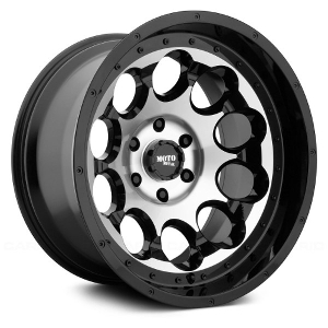 Moto Metal MO990 Rotary Gloss Black W/ Machined Face