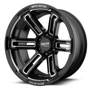 Moto Metal MO991 Rukus Black W/ Milled Spokes