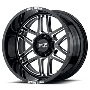 Moto Metal MO992 Folsom Gloss Black W/ Milled Spokes
