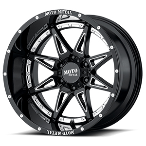 Moto Metal MO993 Hydra Gloss Black W/ Milled Spokes