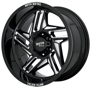 Moto Metal MO996 Ripsaw Gloss Black W/ Milled Spokes