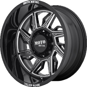 Moto Metal MO997 Hurricane Gloss Black Milled Left