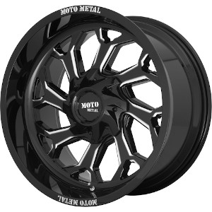 Moto Metal MO999 Gloss Black W/ Milled Spokes