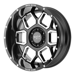 Moto Metal MO981 Gloss Black W/ Machined Face