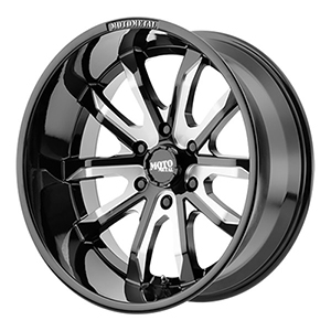 Moto Metal MO983 Gloss Black W/ Milled Spokes
