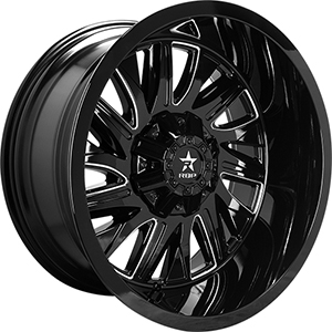 Rolling Big Power 75R Battalion Gloss Black W/ Milled Spokes