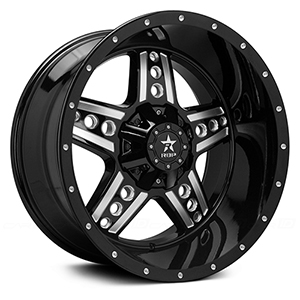 Rolling Big Power 90R Colt Gloss Black W/ Milled Spokes
