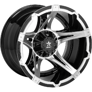 Rolling Big Power 84R Duel Black W Chrome Inserts