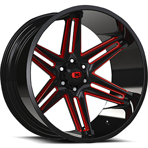Vision Off-Road Razor Black W Red Tint