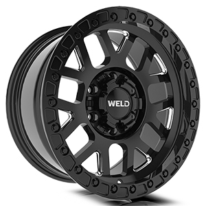 Weld Off-Road Cinch W105 Gloss Black Milled
