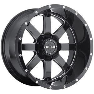 Gear Offroad Big Block 726 Gloss Black W/ Milled Spokes Deep