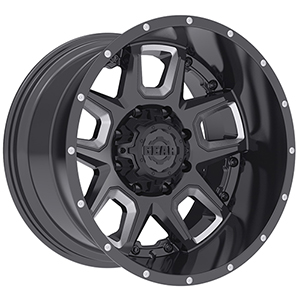 Gear Offroad Armor 743 Gloss Black W/ Milled Accents