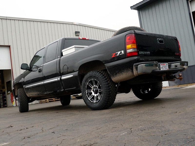 3 Inch Lift Kit For Chevy Silverado 1500 >> 2002 GMC Sierra 1500 - 18x9 Helo Wheels 285/65R18 Atturo Tires Rough Country 1.5-2-inch ...