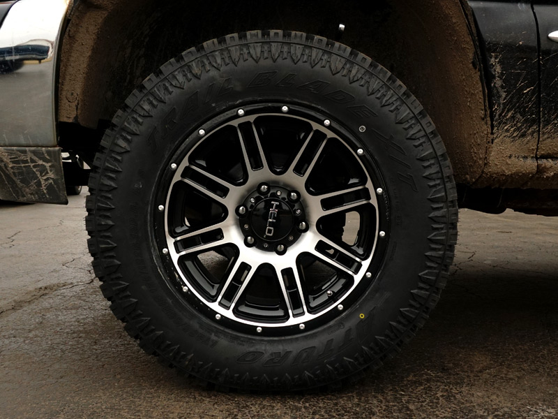 Gmc Sierra Inch Leveling Kit Helo He X Offset By Inch Wide Wheels Atturo Trail Blade Xt R Tires Pic