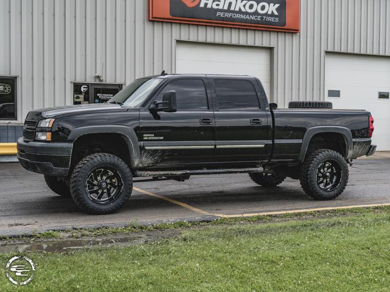 2007 Chevrolet Silverado 2500 Hd 20x12 Fuel Offroad Wheels 35x12 5r20 Atturo Tires 6 Inch Suspension Lift Kit