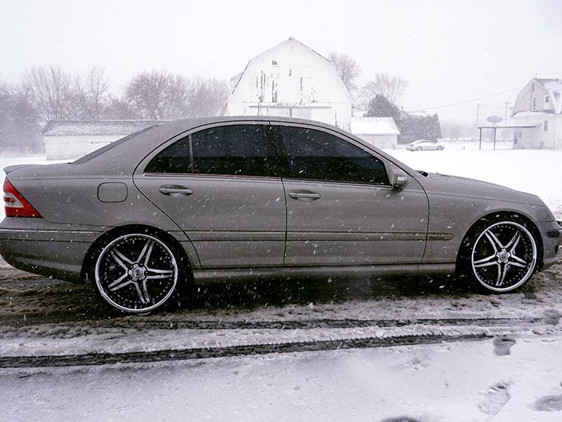 2007 Mercedes Benz Cl 230 Lexani Lx 15 20x8 5 +35 Offset 20x10 +42