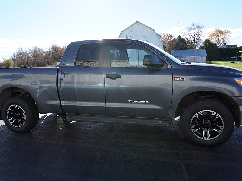 Toyota Tundra With Ultra Maverick B X Offset By Inch Wide Wheel And Toyo Open Country Ht R Inch Wide Tire Pic